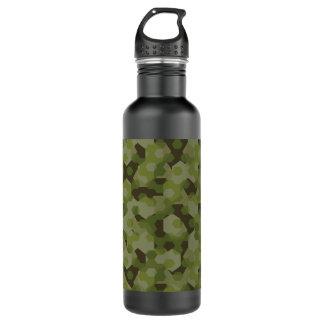 Botella De Agua Hexágono geométrico del camuflaje