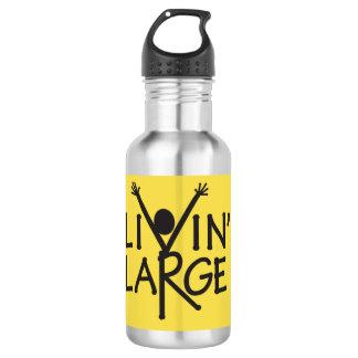 Botella de agua inoxidable grande de Livin