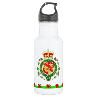 Botella De Agua Insignia real de País de Gales