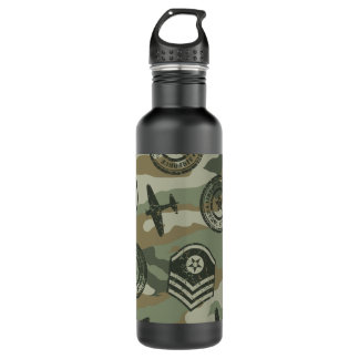 Botella De Agua Insignias militares