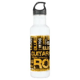 Botella De Agua Invitación del fiesta de la música rock como arte
