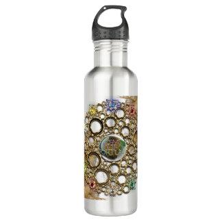 Botella De Agua LA CONEXIÓN DE LA PROSPERIDAD: Gemas de la fortuna