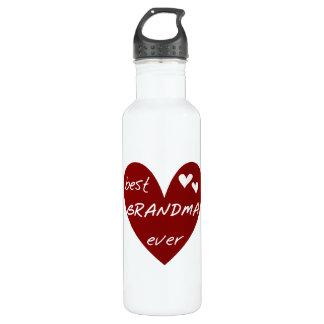 Botella De Agua La mejor libertad de la abuela del corazón rojo