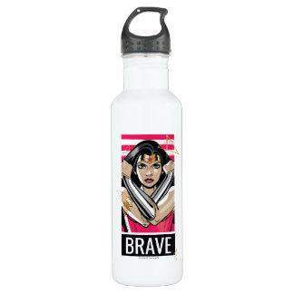 Botella De Agua La Mujer Maravilla defiende - la plantilla