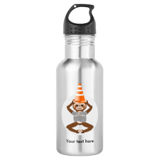 Botella De Agua La pereza sea un cono de la seguridad del