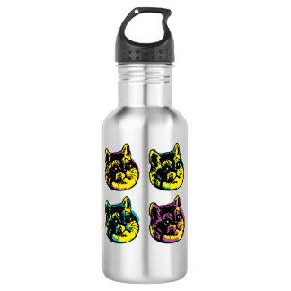 Botella De Agua La respiración pesada de los gatos lindos del arte