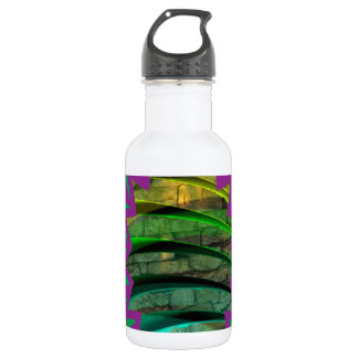 Botella De Agua Las camisetas coloridas felices protagonizan el