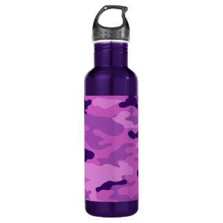 Botella De Agua Libertad Bottleworks de las púrpuras de Camo