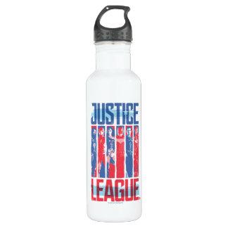 Botella De Agua Liga de justicia arte pop azul y rojo del | del