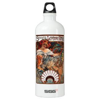 "Botella De Agua Litografía ""galletas Lefèvre-Utile """