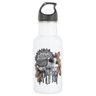 Botella De Agua Mandala cristalina del cráneo