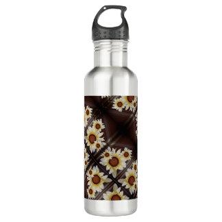 Botella De Agua Margaritas en marrón