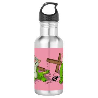 Botella De Agua Marioneta del gato