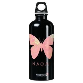 Botella De Agua Mariposa rosada