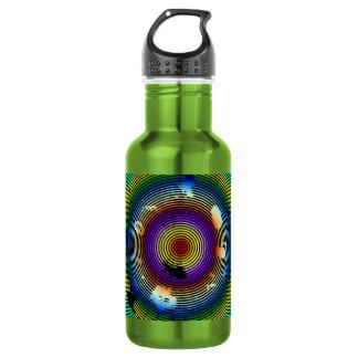 Botella De Agua Modelo circundado multicolor