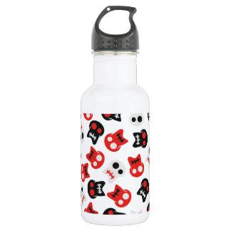 Botella De Agua Modelo colorido del cráneo cómico