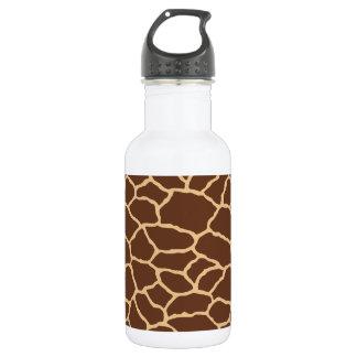 Botella De Agua Modelo de la piel de la jirafa de Brown