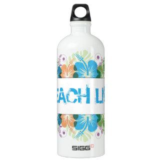 Botella De Agua Modelo del hibisco de la vida de la playa