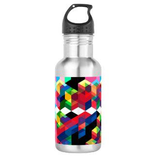 Botella De Agua Modelo geométrico brillante del diamante