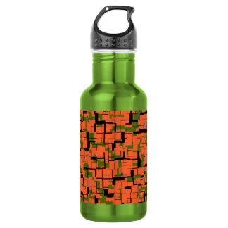 Botella De Agua Modelo negro anaranjado verde de Digitaces Camo