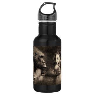 Botella De Agua Mujer que hace que el gorila ríe