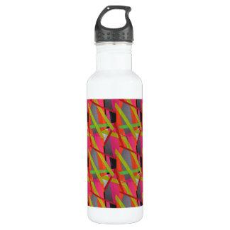 Botella De Agua Neón moderno del arte de la cinta