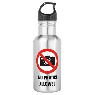 Botella De Agua Ningunas fotos permitidas