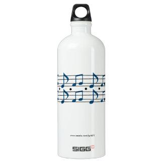 Botella De Agua Notas de la música