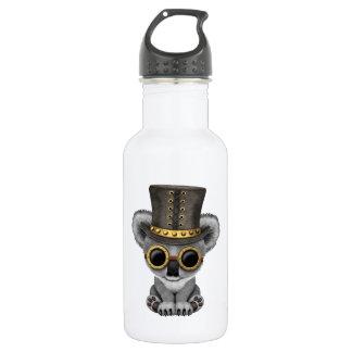 Botella De Agua Oso de koala lindo del bebé de Steampunk