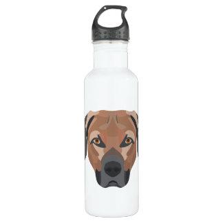 Botella De Agua Perro Brown Labrador del ilustracion