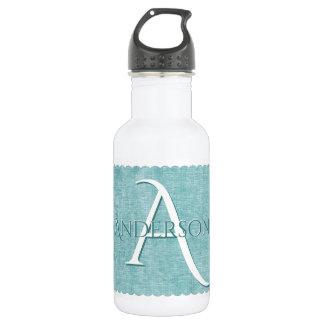 Botella De Agua Personalice: Falsa mirada texturizada de la