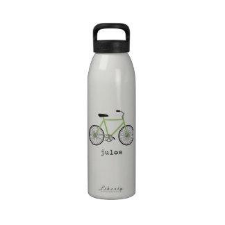 Botella de agua personalizada bicicleta verde