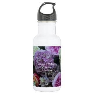 Botella De Agua Personalizado del favor del Peony del Hydrangea de