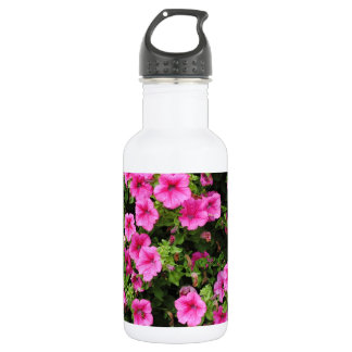 Botella De Agua Petunias y césped