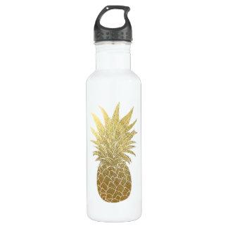 Botella De Agua Piña Waterbottle del oro