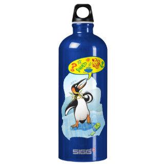 Botella De Agua Pingüino de rey desesperado que dice malas