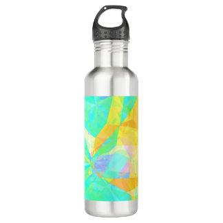 Botella De Agua Polígono artístico que pinta arte abstracto del