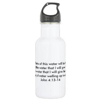 Botella De Agua Primavera del 4:13 agua-agua eterno de Juan de la
