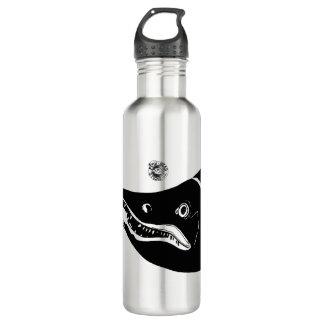 Botella de agua principal de color salmón del