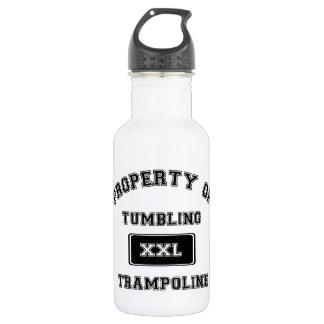 Botella De Agua Propiedad del trampolín que cae