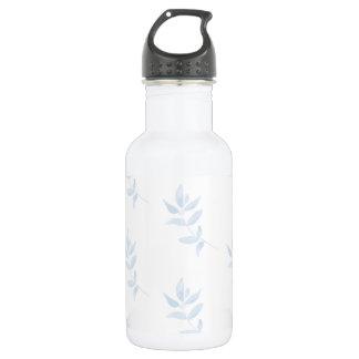 Botella De Agua Rama azul de la acuarela
