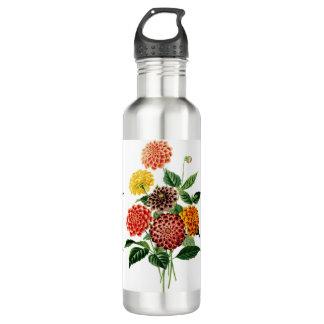 Botella De Agua Ramo botánico colorido de las flores