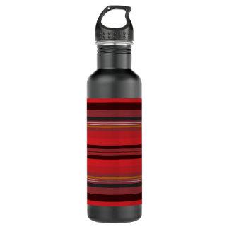 Botella De Agua Rayas - horizonte rojo