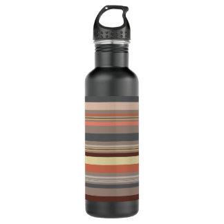 Botella De Agua Rayas - tonos retros