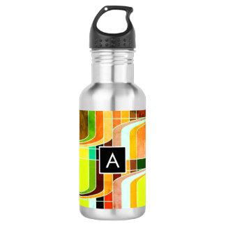 Botella De Agua Retro enrrollado colorido inspirado
