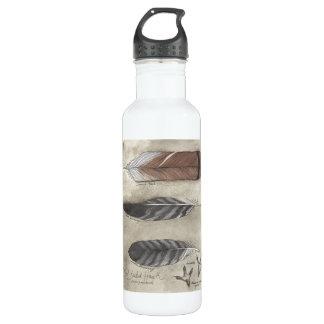 Botella de agua roja del halcón de la cola