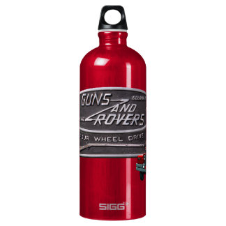 Botella De Agua Rojo Rover de los armas y de los vagabundos
