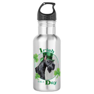 Botella De Agua Schnauzer gigante del día de St Patrick