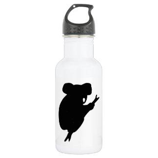 Botella De Agua Silueta de la koala