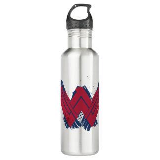 Botella De Agua Símbolo cepillado el   de la Mujer Maravilla de la